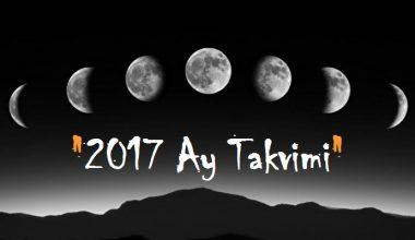 2017 Ay Takvimi