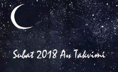 Ay Takvimi Şubat 2018 | Sağlık ve Güzellik