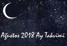 agustos 2018 ay takvimi-saglik ve guzellik