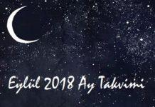 eylul 2018 ay takvimi