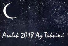 aralik 2018 ay takvimi-saglik ve guzellik