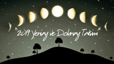 2019 yeni ay ve dolunay takvimi