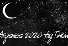 agustos 2020 ay takvimi
