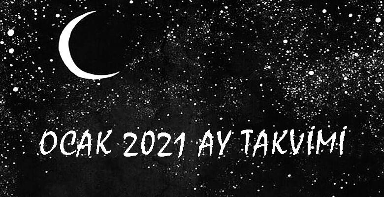 ocak 2021 ay takvimi