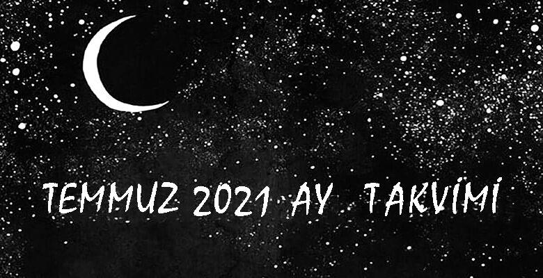 temmuz 2021 ay takvimi