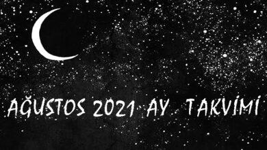 agustos 2021 ay takvimi